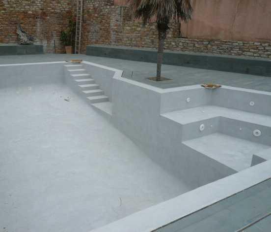 Pintura piscinas de clorocaucho blanco de 4lt jafep for Hormigon pulido blanco